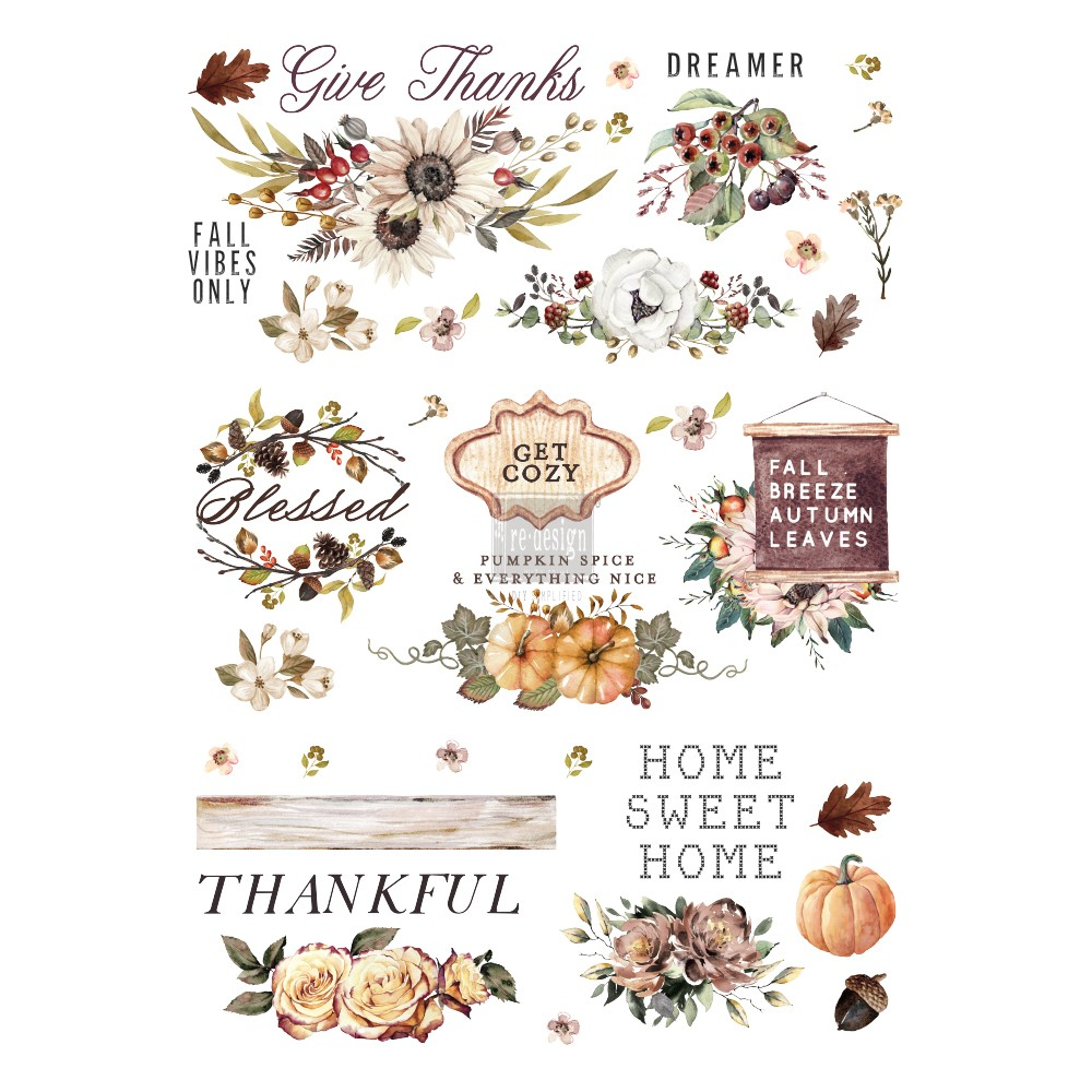"Redesign Décor Transfers® - Thankful Autumn size 24""x 34"""