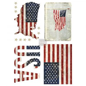 "Redesign Décor Transfers® - Patriotic size 24""x 34"""