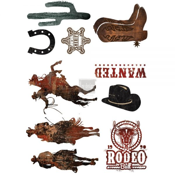 "Redesign Décor Transfers® - Rodeo size 24""x 34"""