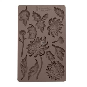 """Redesign Décor Moulds®- Botanist Floral 5""""x 8""""  8 mm thickness"""