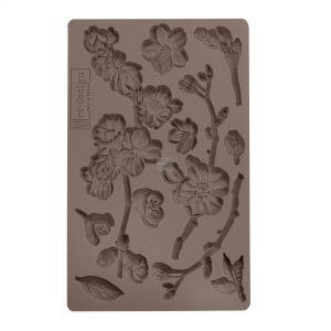 """Redesign Décor Moulds®- Cherry Blossoms 5""""x 8""""  8 mm thickness"""