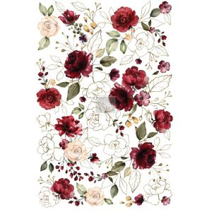 "Redesign Décor Transfers® Midnight Floral - size 24""x 33"""