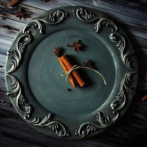 wood+plate