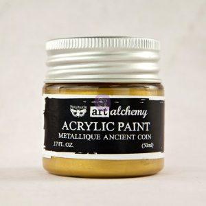 Art Alchemy-Acrylic Paint-Metallique Antique Gold 1.7oz