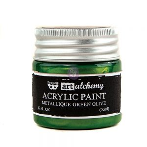 Art Alchemy-Acrylic Paint-Metallique Green   1.7 fl.oz (50ml)