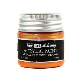Art Alchemy-Acrylic Paint-Metallique Orange  1.7 fl.oz (50ml)