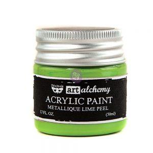 Art Alchemy-Acrylic Paint-Metallique Light Green  1.7 fl.oz (50ml)