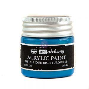 Art Alchemy-Acrylic Paint-Metallique Light Blue   1.7 fl.oz (50ml)
