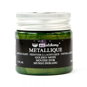 Art Alchemy Metallique Acrylic Paint - Golden Moss
