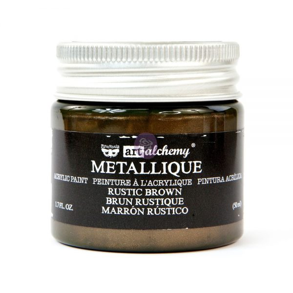 Art Alchemy Metallique Acrylic Paint - Rustic Brown