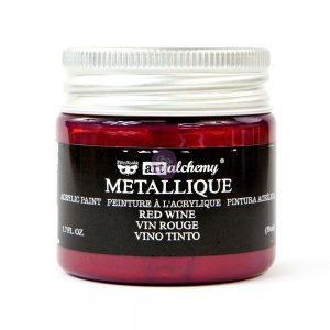 Art Alchemy Metallique Acrylic Paint - Red Wine