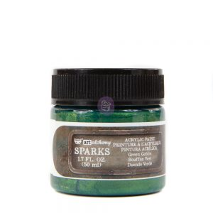 Art Alchemy- Sparks Acrylic Paint - Green Goblin  1.7 fl.oz (50ml)