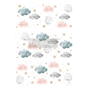 "Redesign Decor Transfers® - Sweet Lullaby - total sheet size 24""x35"", cut into 3 sheets"