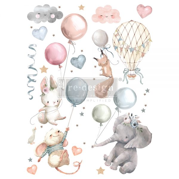 "Redesign Decor Transfers® - Sweet Dreams - total sheet size 24""x35"", cut into 2 sheets"