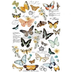 "Redesign Decor Transfers® - Butterfly Dance - total sheet size 24""x35"", cut into 3 sheets"