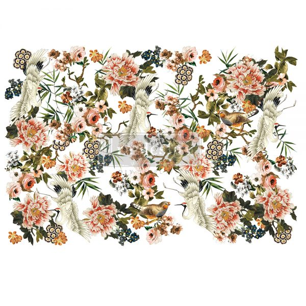 "Redesign Decor Transfers® - Elegance & Flowers - total sheet size 48""x35"", cut into 6 sheets"