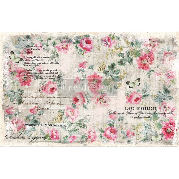 "Redesign Decoupage Décor Tissue Paper - Floral Wallpaper - 2 sheets (19"" x 30"")"