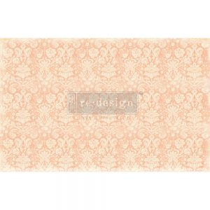 "Redesign Decoupage Décor Tissue Paper - Peach Damask - 2 sheets (19"" x 30"")"