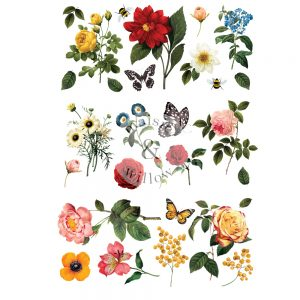 "Maisie & Willow Transfers® - Majestic Garden - 3 sheets, total design size 16""x23"""