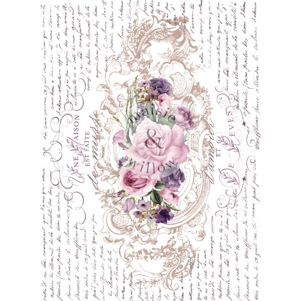 """Maisie & Willow Transfers® - Floral Poems - 2 sheets, total design size 16""""x23"""""""
