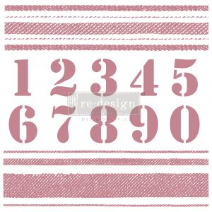 Redesign Decor Clear-Cling Stamps - Stripes - 12x12 clear cling