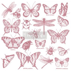 Redesign Decor Clear-Cling Stamps - Floral Script - 12x12 clear cling