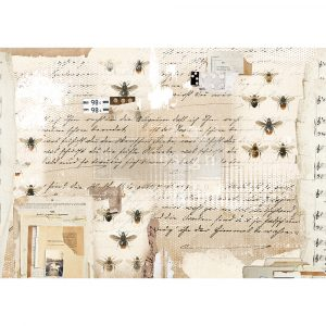 "Redesign Decor Rice Paper - Mysterious notes - 11.5"" x 16.25"""