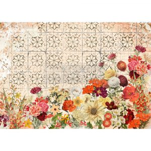 "Redesign Decor Rice Paper - Twilight field - 11.5"" x 16.25"""