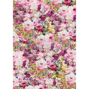 "Redesign Decor Rice Paper - Fuchsia meadow - 11.5"" x 16.25"""