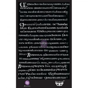 6x9 Stencil - Manuscript