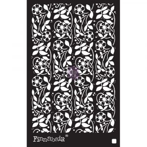 6x9 Stencil - Passiflora