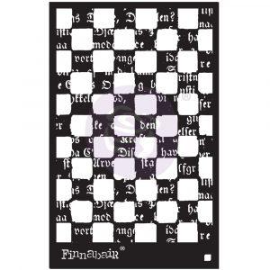 """6x9 Stencil - Mind Games - 6"""" x 9"""""""