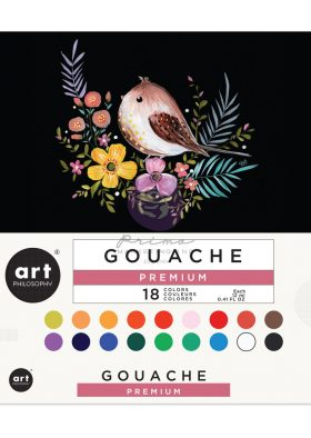Art Philosophy Gouache Set - 18 colors x 12 ml (0.41 fl oz) tube