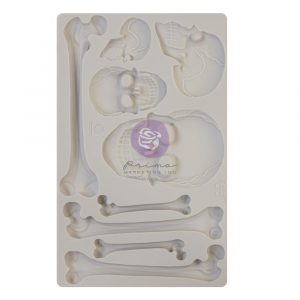 Finnabair - Moulds - Skull and Bones - 1 pc, 5x8 in