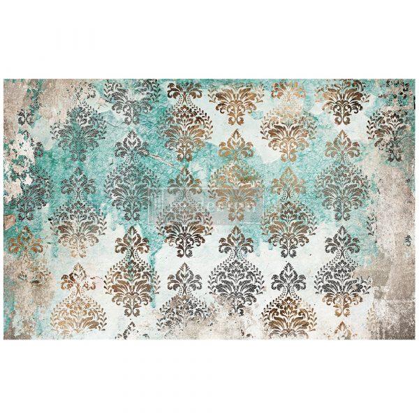 "Redesign Decoupage Décor Tissue Paperr - Patina Flourish - 1 sheet, 19""x30"""