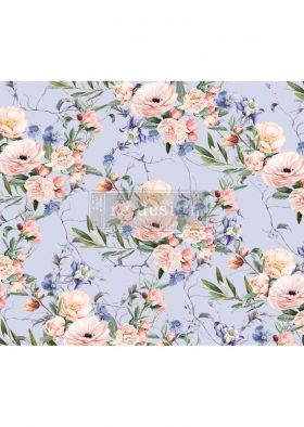 "Redesign Decoupage Décor Tissue Paper - Lavender Fleur - 1 sheet, 19""x30"""