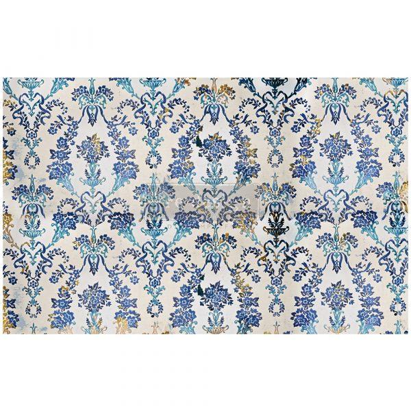 "Redesign Decoupage Décor Tissue Paper - Cobalt Flourish - 1 sheet, 19""x30"""