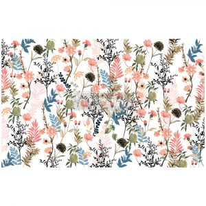 "Redesign Decoupage Décor Tissue Paper - Pretty Meadows - 1 sheet, 19""x30"""