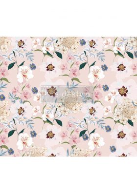 "Redesign Decoupage Décor Tissue Paper - Blush Floral - 1 sheet, 19""x30"""