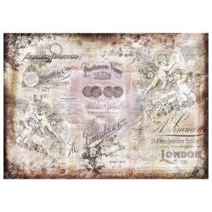 Finnabair Tissue Paper - Romatica - 6 sheets (70cm x 50cm each)