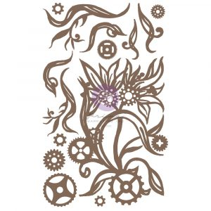 Finnabair Decorative Chipboard - Steampunk Blooms - 14 pcs