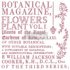"Redesign Decor Stamp - Botanical Encyclopedia - 12""x12"" (12 pcs)"