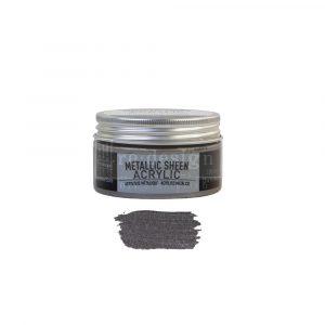 Redesign Acrylic Paint Metallic Sheen- Crushed Slate - 1 jar, 100 ml (3.4 fl oz)
