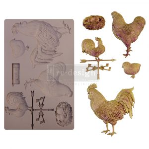 """Redesign Decor Moulds® - Sunny Morning Friends - 1 pc, 5""""x8"""", 8mm thickness"""