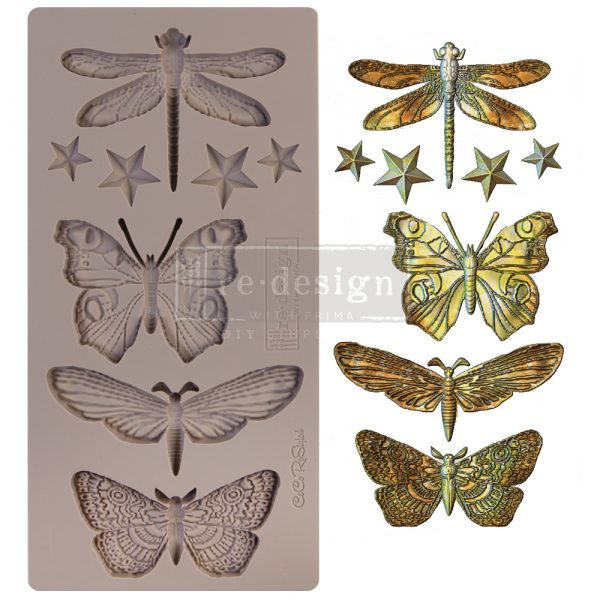 """Redesign Decor Moulds® - CECE Insecta & Stars - 1 pc, 5""""x10"""", 8mm thickness"""