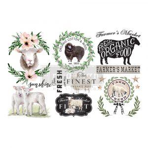 "Redesign Decor Transfers® - Sweet Lamb - 3 sheets, 6""x12"""