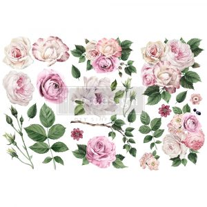 """Redesign Decor Transfers® - Delicate Roses - 3 sheets, 6""""x12"""""""