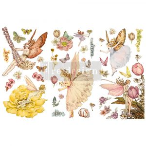 """Redesign Decor Transfers® - Fairy Flowers - 3 sheets, 6""""x12"""""""