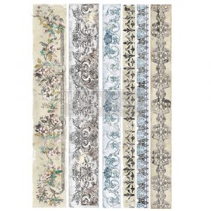 """Redesign Decor Transfers® - Distressed Borders - Total sheet size 24""""x35"""", cut into 2 sheets"""