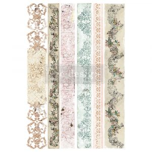 """Redesign Decor Transfers® - Distressed Borders II - Total sheet size 24""""x35"""", cut into 2 sheets"""
